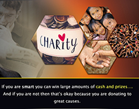 Charity and win prize Banner