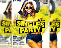 Singles Party Flyer - Club A5 Template