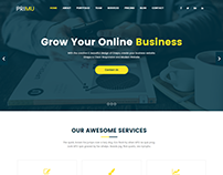 Primu | Ultimate Business Template