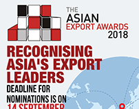 The Asian Exports Awards 2018 Banner + PRINT AD