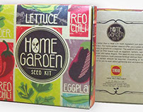 home garden seed kit packaging