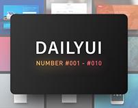 DailyUI Challenge #001 - #010