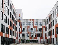 Colourful office building St. Pölten, AT