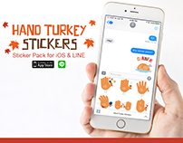 Hand Turkey Stickers