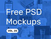 Free PSD Mockups vol. 25