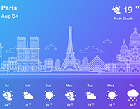 Paris Weather Ilustration