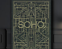 SOHO Art Deco Poster & Cards