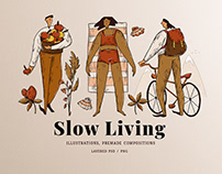 Slow Living illustrations