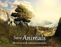 Save animals banner