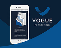 Vogue Plastering Brand Identity