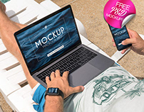 3 FREE MACBOOK PRO/IPHONE XS/APPLE WATCH MOCKUPS IN PSD