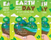 Mother Earth Day Celebration - Seasonal A5 Template