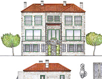house facade illustration