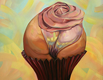 Cup Cake M. Oil on canvas. 70x70cm