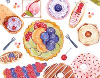 Japanese Fabric Illustration