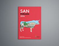 Cartel ilustrado San Fermín 2016