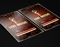 Live Music Flyer PSD Template