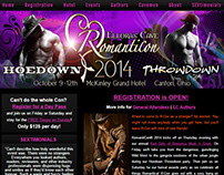 Romanticon convention web design (2014)