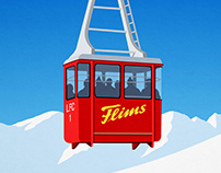 Flims Ski Resort Poster