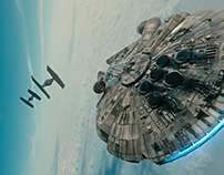Millennium Falcon Shot Remake