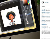 Instagram In-Progress Projects (Tongue Twister)