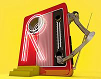 Random Robotic Red Radio - C4D
