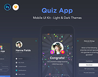 QuizApp - Mobile App UI Kit