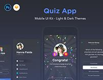 QuizApp - Mobile App UI Kit