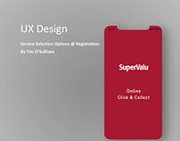 UX Design for Click & Collect on Registration