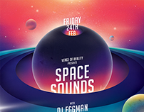 Space Sounds Party Flyer