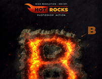 Hot Rocks – Photoshop Text Action – 300 DPI