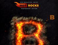 Hot Rocks – Photoshop Text Action – 300 DPI