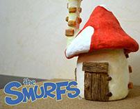 DIY Smurfs Mushroom House Jar