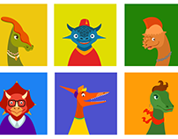 Set of avatars for PenPal school
