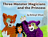 """ Three Monster Magicians and The Princess"", Book Cover"