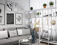 IKEA style. Living room
