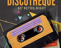 Disco Retro Party Flyer Template