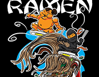 Ramen Tsunami Sumo and Ninja Surfers