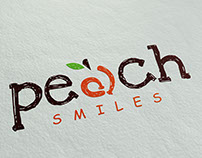 Peach Smile Dental Logo And Business Card