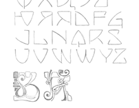 Font — Historical Geometrical Art Nouveau Study