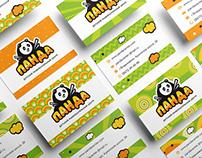 Logo and branding identity for children`s center Panda