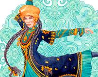 Print design - Bashkir Beauty