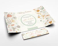 Gatefold Wedding Invitation Mockup