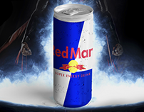 Logo Fusion: Red Man : Super Energy Drink