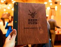 Branding and logo for restaurant «Beef Club». Kharkiv
