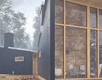 Lone woodsman's cabin