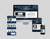 One Page Web Site Template Design / Web UI Design
