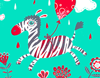 Zippy Zebra screenprint