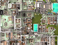 3d floorplan Maze