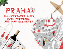 Praha: illustrated map